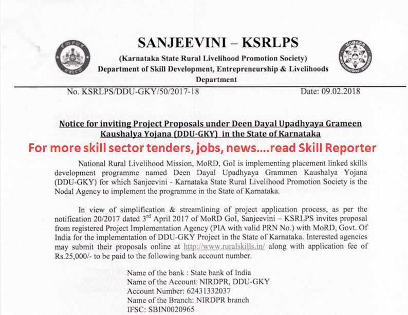 Ksrlps Government Of Karnataka Inviting Project Proposals For