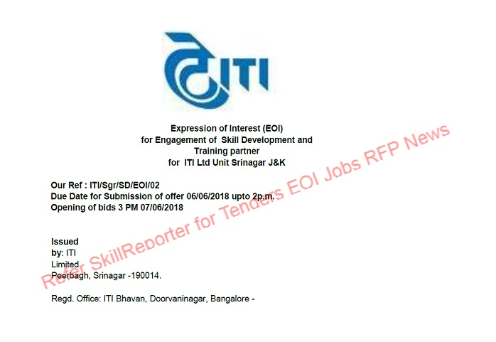 Expression of interest eoi for engagement of skill development and expression of interest eoi for engagement of skill development and training partner for government psu iti limited thecheapjerseys Images